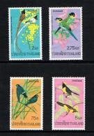 Thailand 1975 Sc # 727 / 730   MNH **   Birds  -  Oiseaux - Uccelli