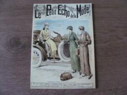 """Carte - Le Petit Echo De La Mode - """"Une"""" Du Petit Echo Du Dimanche 02 Août 1914 - CHATELAUDREN - Côtes D´Armor - Publicité"""