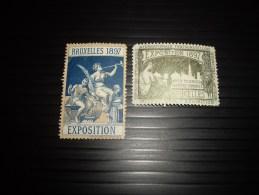 BELGIQUE 1896 EXPOS  BRUXELLES - Erinnophilie