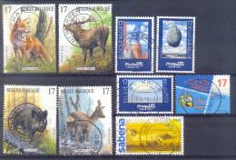 Belgie - 1998 - OBP -  2745/47 + 2748/51 +2752/53 -  Kunst In Belgie -  Natuur  - Zoogdieren - Gestempeld - Gebraucht