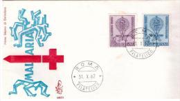 Fdc Venetia: MALARIA (1962);  No Viaggiata; AF_Roma - F.D.C.