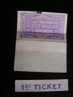 Tickets De La Compagnie Des Tramways électriques D'Angers - Tramways