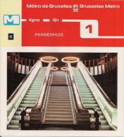 METRO DE BRUXELLES - BRUSSELSE METRO - PANNENHUIS - Ligne - Lijn 1 (dépliant Bilingue N°45) - Unclassified