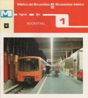 METRO DE BRUXELLES - BRUSSELSE METRO - BOCKSTAEL - Ligne - Lijn 1 (dépliant Bilingue N°46) - Unclassified