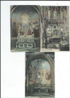 65 Lourdes Lot 3 CPA Flagellation Pentecote Mosaiques Intérieur Basilique Neuves TBE Viron Photo - Lourdes