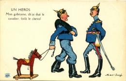 "ILLUSTRATEUR MASS'BEUF GUERRE 14/18 SOLDAT ALLEMAND "" UN HEROS "" - Humoristiques"