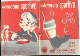 CALCIO TEMATICA SPORT LIBRETTO 1951/52 CON CALENDARIO E QUADRI SQUADRE SERIE A - Calcio