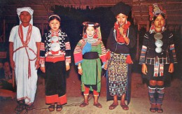 The Women Of Karen Muhsur, Lisu, Yoa And Kaw As Hill Tribes In Northern Thailand -  Costumes - Ethnique - Thailand