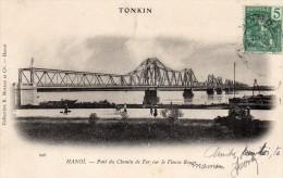CPA  -  TONKIN  -  HANOI  -  Pont De Chemin De Fer Sur Le Fleuve Rouge - Vietnam
