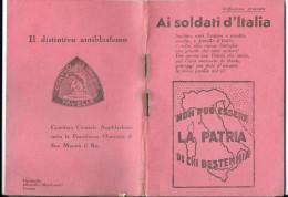 MILITARI TEMATICA MILITARI LIBRETTO OPUSCOLO MILITARE DEL 1935 10X14,30 - Militari