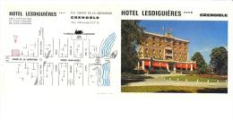 Hotel LESDIGUIERES ***A 122 Cours De La Libération GRENOBLE Isère 38 Hotel D'application De L'école Hotelière Des Alpes - Pubblicitari