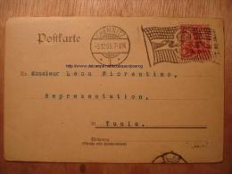 ALLEMAGNE Type DAGUIN - CHEMNITZ 5 DECEMBRE 1905 - CARTE COMMERCIALE HEIDENHEIM OPPENHEIM Bonneterie Tunisie 05-12-1905 - Allemagne