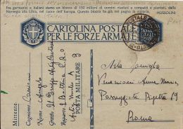 FRANCHIGIA WWII POSTA MILITARE 3 XI° CONCENTRAM 1942 SCIARA SCIATT LIBIA X ROMA - 1900-44 Vittorio Emanuele III