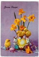 BE1437 Buona Pasqua Joyeuses Pâques - Coniglio  Pulcini, Lapin Poussins - Pâques