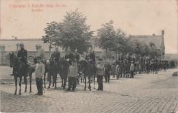 AK Rote Kaserne Pirna Ausr�cken 3. Batterie 5. Feld Artillerie Regiment No. 64 Milit�r Militaria Feldpost Stempel