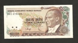 [NC] TURKEY - NATIONAL BANK - 5000 LIRA (1970) - Turchia