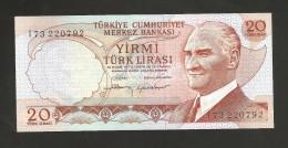 [NC] TURKEY - NATIONAL BANK - 20 LIRA (1970) - Turchia