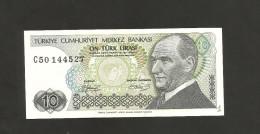 [NC] TURKEY - NATIONAL BANK - 10 LIRA (1970) - Turchia