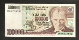 [NC] TURKEY - NATIONAL BANK - 100000 LIRA (1997) - Turchia