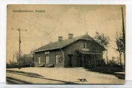 Railway Station Jarnvagsstationen Nordana Sweden By Oscar Brogard, Malmo 2 1915 - Zweden
