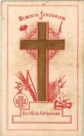 IMAGE PIEUSE RELIGIEUSE HOLY CARD SANTINI Croix En Bois Olivier : Memento JERUSALEM Ex Olivis GETHSEMANI Reliquia ? - Devotion Images