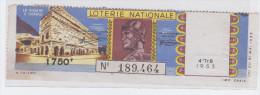 Billet De Loterie Le Théâtre D'orange Romain - Archäologie