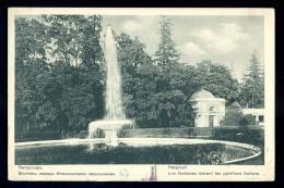 Cpa De Russie Péterhof Les Fontaines Devant Les Pavillons Italiens     AO47 - Russie