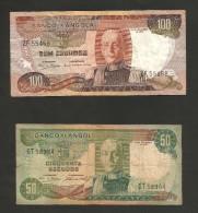 ANGOLA - BANCO De ANGOLA - 50 / 100 ESCUDOS (1972 ) LOT Of 2 DIFFERENT BANKNOTES - Angola
