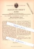 Original Patent  - W. Werner In Gr. Rosenburg / Barby Bei Calbe A. D. Saale , 1882 ,  Hufeisen Mit Eissporen , Schmied ! - Documenti Storici