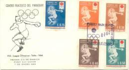 JUEGOS OLIMPICOS TOKIO 1964 OLIMPIADAS SERIE PARAGUAY