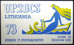 QSL  Karte,  Meerjungfrau, Sirene, Mermaid, Nixe, Meermin, Radio,Ham, 1976, Litauen Lithuania Klaipeda - Non Classés