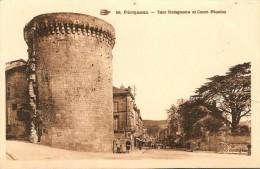 24. CP. Dordogne. Périgueux, Tour Mataguerre Et Cours Fénelon (animée) - Périgueux