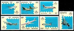 Nicaragua - 1986 - Airplanes - Stockholmia 86 Philatelic Exhibition - Mint Stamp Set - Nicaragua