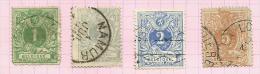 Belgique N°26, 27, 27a, 28 Côte 3.15 Euros - 1869-1888 Lion Couché