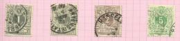 Belgique N°42 à 45 Côte 3 Euros - 1884-1891 Léopold II