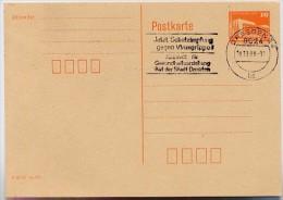 VIRUS-SCHUTZIMPFUNG Dresden 1988 Auf DDR P86 II Postkarte - Krankheiten