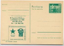 Karl-Marx-Denkmal Karl-Marx-Stadt DDR P79-17-81 C151 Postkarte Zudruck 1981 - Karl Marx