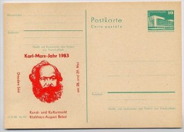 KARL-MARX-JAHR DDR P 84 C26 Postkarte Zudruck DRESDEN 1983 - Karl Marx