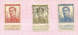 Belgique N°123 à 125   Côte 1.95 Euros - 1912 Pellens