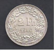 SUISSE - 2 Fr.  1940 - Suisse