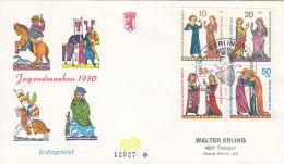 """BERLIN  354 I Auf FDC Mit 354-357, Minnesänger 1970, PF I: """"N"""" Von """"BERLIN"""" Gebrochen - [5] Berlin"""