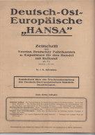 """Deutsch-Ost-Europäische """"HANSA"""", Nr.1 / 11. Jahrgang 1920, Zeitschrift Für Den Handel Mit Russland - Zeitungen & Zeitschriften"""