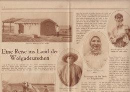 Zeitungsseite Um 1930: Eine Reise Ins Land Der Wolgadeutschen, Mit 7 Bildern - Tedesco