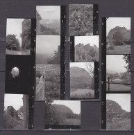 13 Kleinbilder, Foto-Kontaktabzüge, Hohentwiel, 1961 - Orte