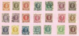 Belgique N°190 à 210 Cote 18 Euros - 1921-1925 Petit Montenez