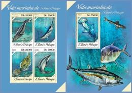 st13617ab S.Tome Principe 2013 Marine life Fish 2 s/s