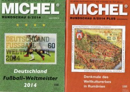 MICHEL Briefmarken Rundschau 8/2014 Sowie 8/2014 Plus Neu 11€ New Stamps Of The World Catalogue And Magacine Of Germany - Vieux Papiers