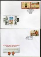 Litauen,Lithuania,2xFDC, Literatur Museum+150 Jahre Archiv Litauen  7.9.2002+6.4.2002