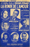 40 60 PARTITION ANDRÉ CLAVEAU FILM LA RONDE DE L'AMOUR OSCAR STRAUS DASSARY TOHAMA MURENA CARSY GUITARE ACCORDÉON - Music & Instruments