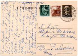 ITALIA / ITALY 1946 - Entire Postal Card Of Lire 1,20 Plus Additional Postage Of 60 Cent + Lire 1,20 - 6. 1946-.. Repubblica